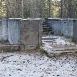 Skolan i det övergivna gruvsamhället Laver