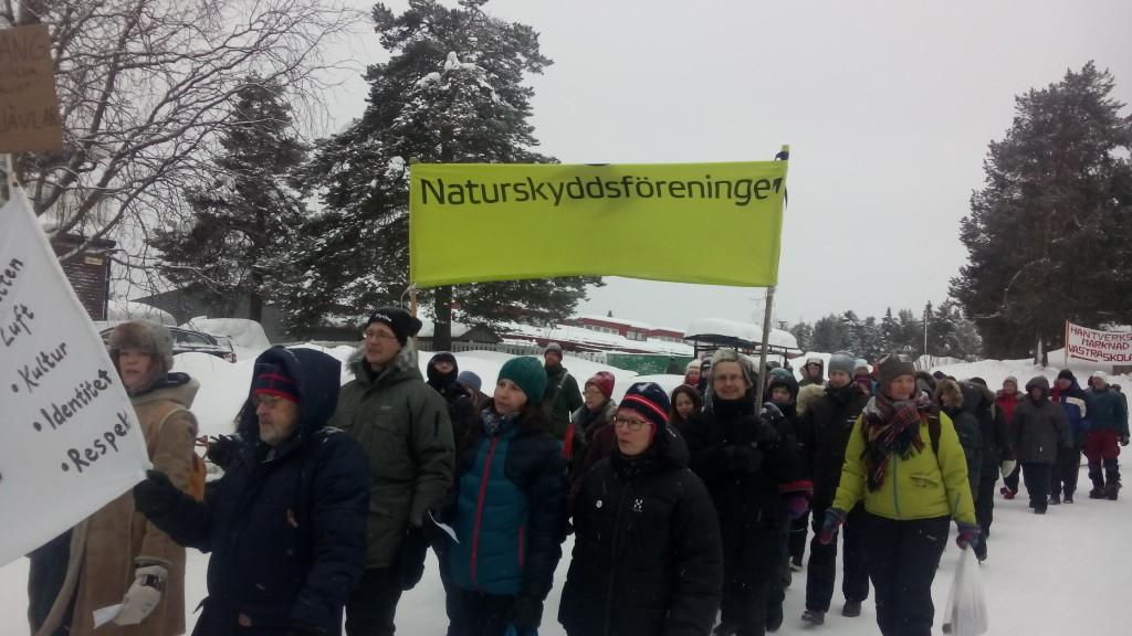 Demonstration i Jokkmokk