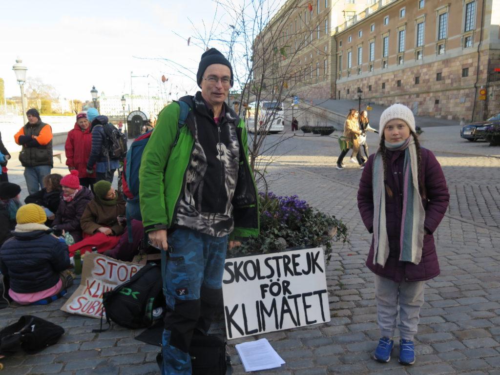 Urpo Taskinen och Greta Thunberg